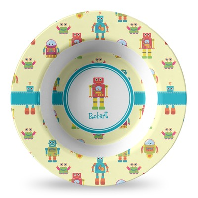 Robot Plastic Bowl - Microwave Safe - Composite Polymer (Personalized)