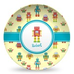 Robot Microwave Safe Plastic Plate - Composite Polymer (Personalized)