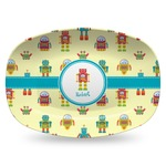 Robot Plastic Platter - Microwave & Oven Safe Composite Polymer (Personalized)