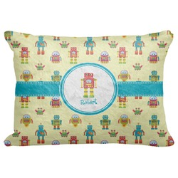 "Robot Decorative Baby Pillowcase - 16""x12"" (Personalized)"