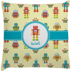 Robot Decorative Pillow Case (Personalized)