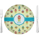 "Robot Glass Lunch / Dinner Plates 10"" - Single or Set (Personalized)"