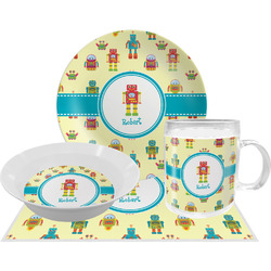 Robot Dinner Set - 4 Pc (Personalized)