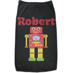 Robot Black Pet Shirt (Personalized)