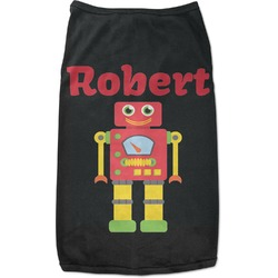 Robot Black Pet Shirt - 2XL (Personalized)