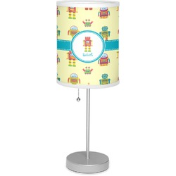 """Robot 7"""" Drum Lamp with Shade (Personalized)"""