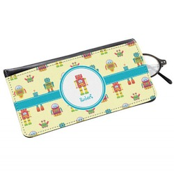 Robot Genuine Leather Eyeglass Case (Personalized)