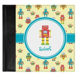 Robot Genuine Leather Baby Memory Book (Personalized)