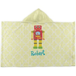 Robot Kids Hooded Towel (Personalized)