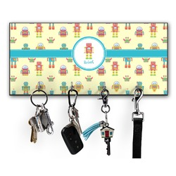Robot Key Hanger w/ 4 Hooks w/ Graphics and Text
