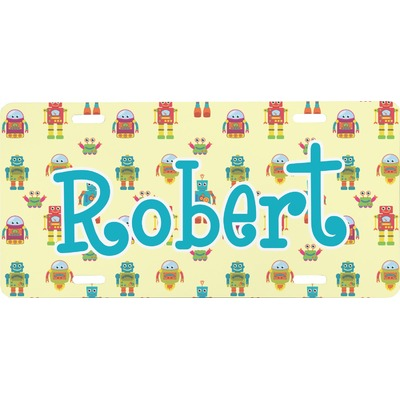 Robot Front License Plate (Personalized)