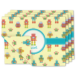 Robot Linen Placemat w/ Name or Text