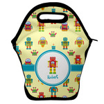 Robot Lunch Bag w/ Name or Text