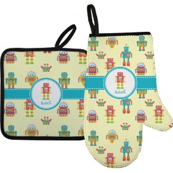 Robot Oven Mitt & Pot Holder (Personalized)