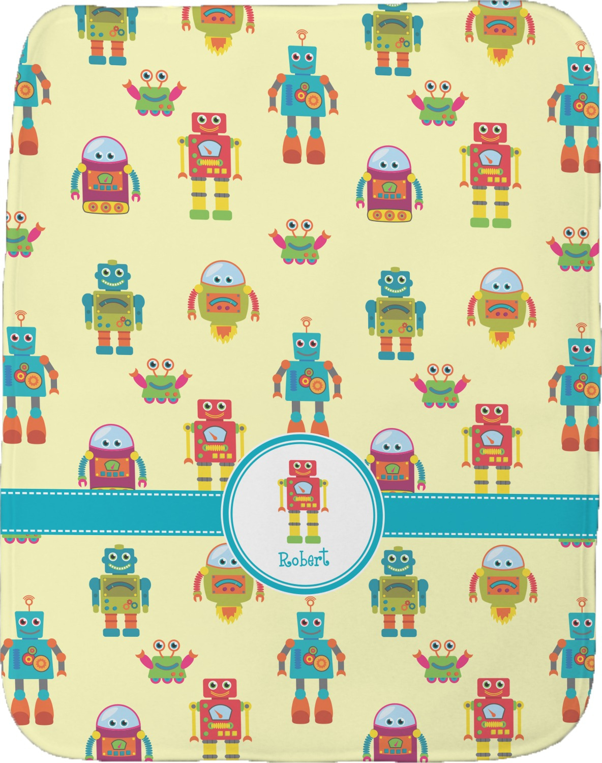Robot Burp Cloth Personalized Youcustomizeit