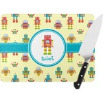 Robot Rectangular Glass Cutting Board (Personalized)