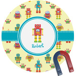 Robot Round Magnet (Personalized)