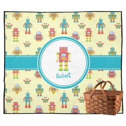 Robot Outdoor Picnic Blanket (Personalized)