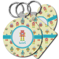 Robot Plastic Keychains (Personalized)