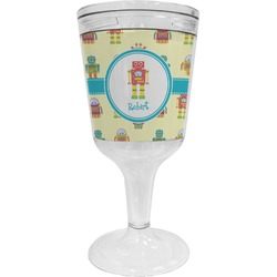 Robot Wine Tumbler - 11 oz Plastic (Personalized)