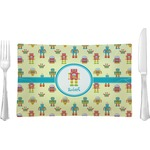 Robot Glass Rectangular Lunch / Dinner Plate - Single or Set (Personalized)