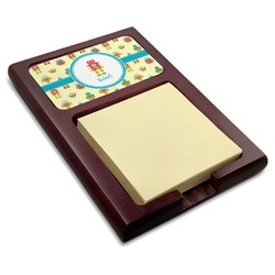 Robot Red Mahogany Sticky Note Holder (Personalized)
