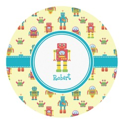 Robot Round Decal (Personalized)