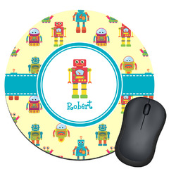 Robot Round Mouse Pad (Personalized)
