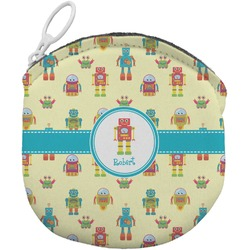 Robot Round Coin Purse (Personalized)