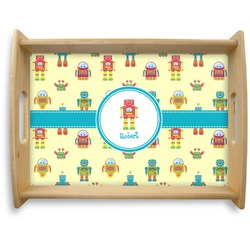 Robot Natural Wooden Tray - Large (Personalized)