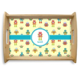 Robot Natural Wooden Tray (Personalized)