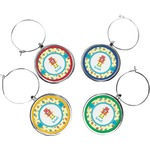 Robot Wine Charms (Set of 4) (Personalized)