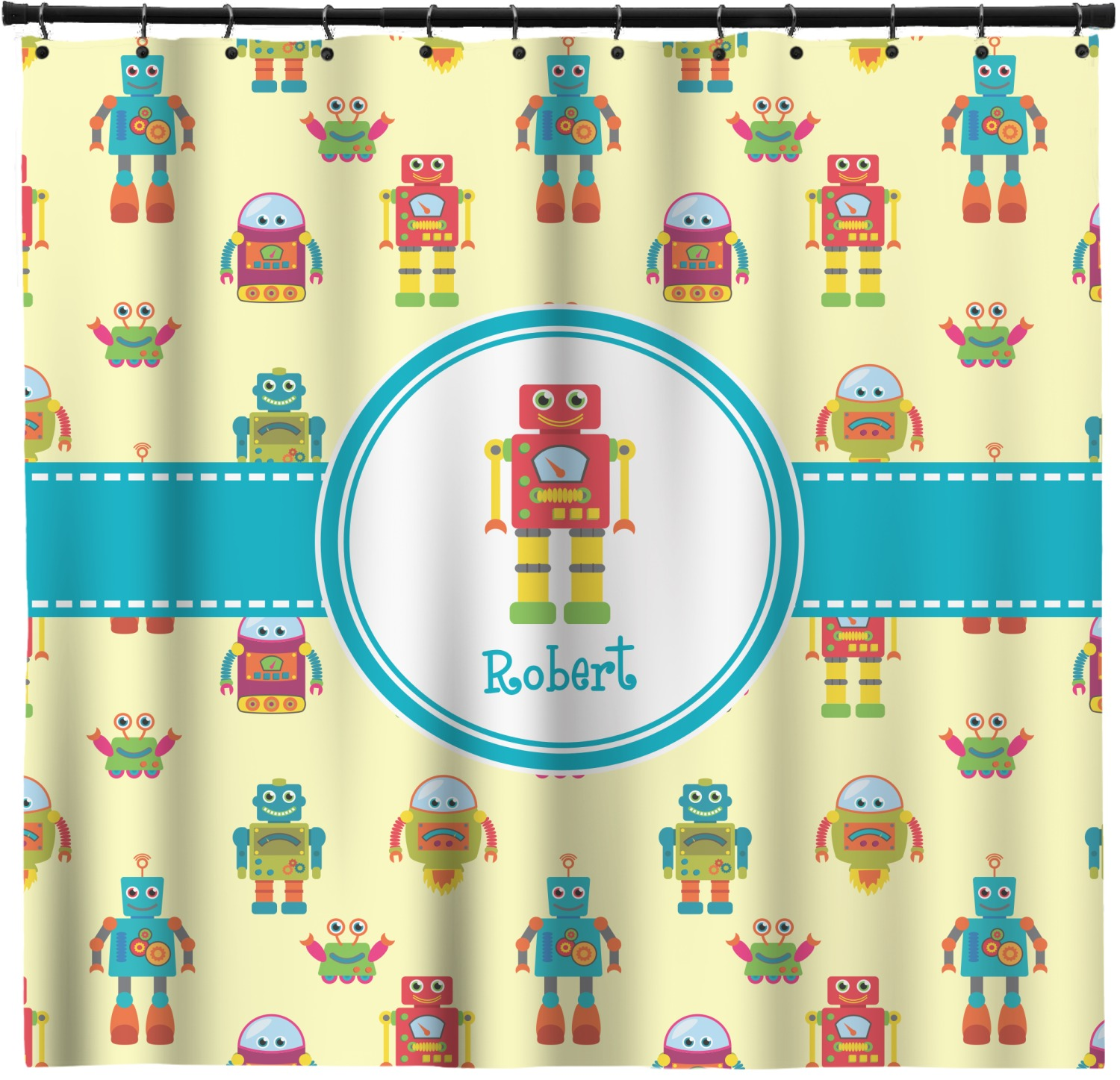 Robot Shower Curtain Personalized