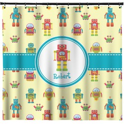 Robot Shower Curtain (Personalized)