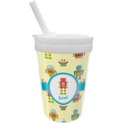 Robot Sippy Cup with Straw (Personalized)