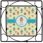 Robot Square Trivet (Personalized)