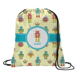 Robot Drawstring Backpack - Large (Personalized)