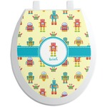 Robot Toilet Seat Decal (Personalized)