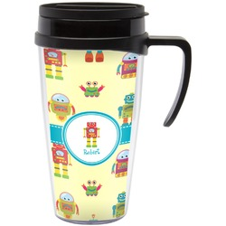 Robot Travel Mug with Handle (Personalized)