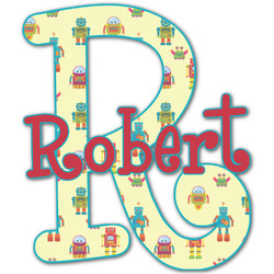 Robot Name & Initial Decal - Custom Sized (Personalized)