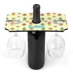 Robot Wine Bottle & Glass Holder (Personalized)