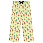 Robot Womens Pajama Pants (Personalized)