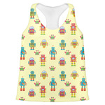 Robot Womens Racerback Tank Top (Personalized)