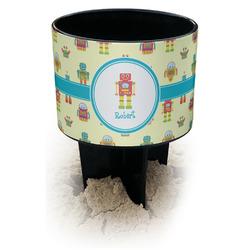Robot Black Beach Spiker Drink Holder (Personalized)
