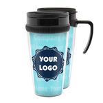 Logo & Company Name Acrylic Travel Mugs (Personalized)