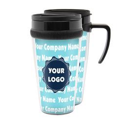 Logo & Company Name Acrylic Travel Mugs (Personalized)