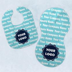 Logo & Company Name Baby Bib & Burp Set