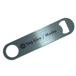 Logo & Company Name Bar Bottle Opener - Silver
