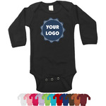 Logo & Company Name Long Sleeves Bodysuit - 12 Colors (Personalized)