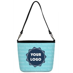 Foxy Yoga Bucket Bags w//Genuine Leather Trim Large Personalized Front